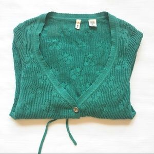 Moth cardigan sweater from Anthropologie, teal